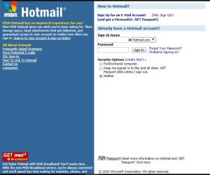 Hotmail año 2003